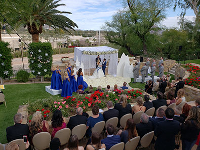 Wedding in Phoenix, Arizona, Wedding Ceremony, 01-12-2019, Wrigley Mansion