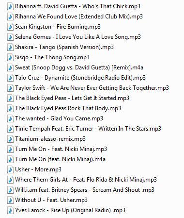 Американские и интернациональные хиты, диджейский список свадебных песен, музыка на свадьбу, торжество, юбилей, обновлено 15 апреля 2013 года