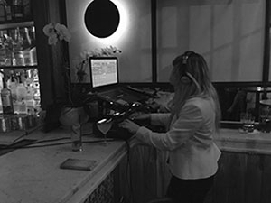 DJ ALISA, female Russian-American DJ, SOFIA RESTAURANT AND LOUNGE in ENGLEWOOD, New Jersey