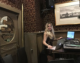DJ ALISA, female Russian-American DJ, Russian Samovar, New York City, NY